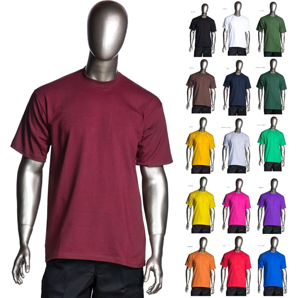 Image of Pro Club - Heavyweight Short-Sleeve Tee Crew Neck Plain T-Shirts