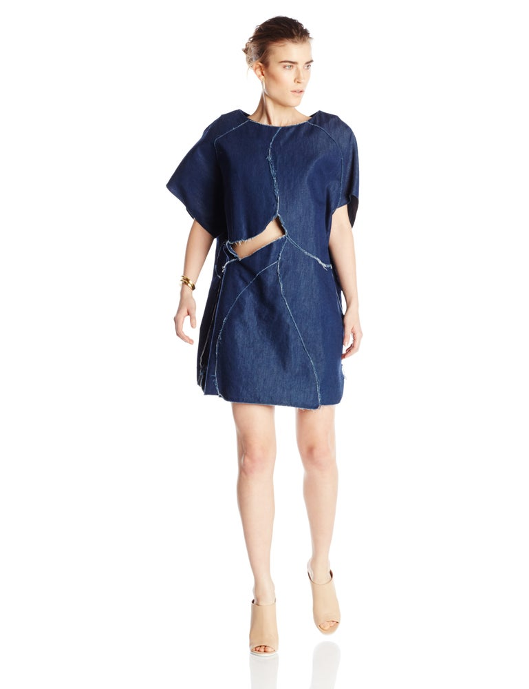 Image of Denim Stitch Dress