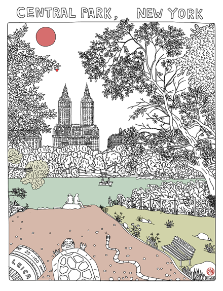 Image of New York Project - central park