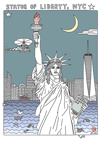 Image of New York Project - statue of liberty