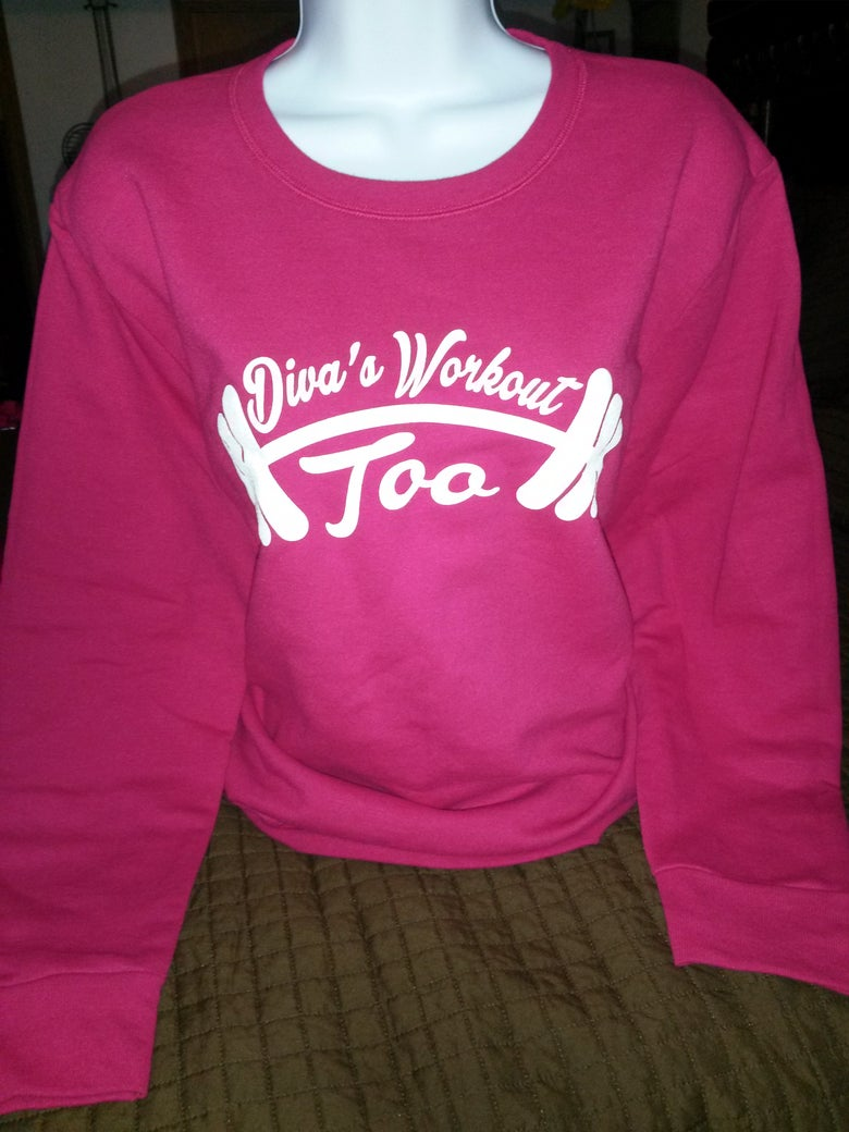 Image of Diva's Workout Too Longsleeve Sweatshirts( Pink Raspberry)