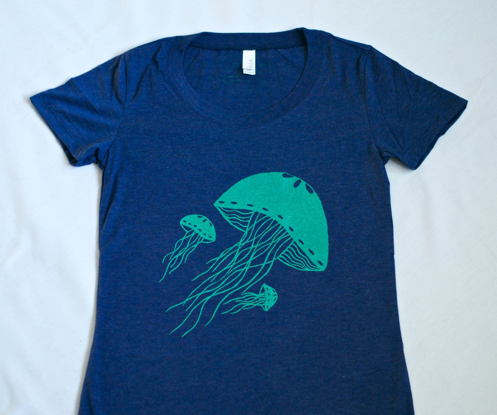 Image of *Blue Jellyfish Tee- Women's