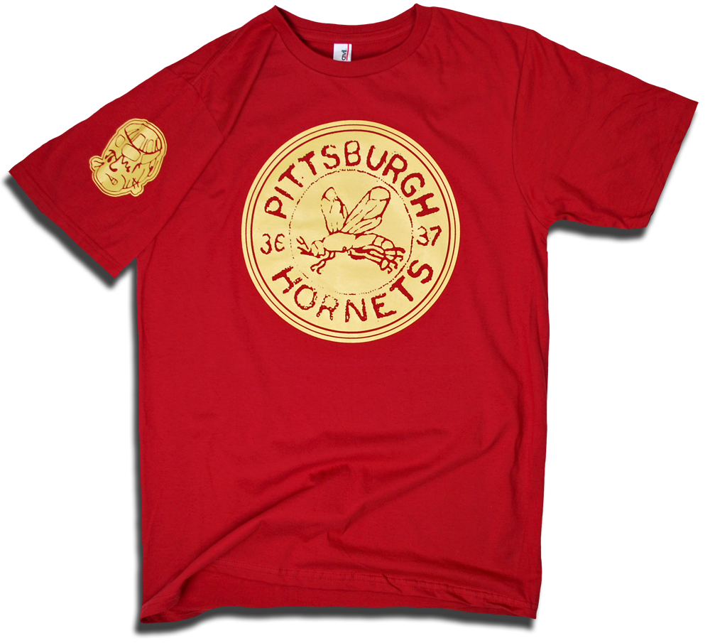 Image of Pittsburgh Hornets custom 1936 hockey tee