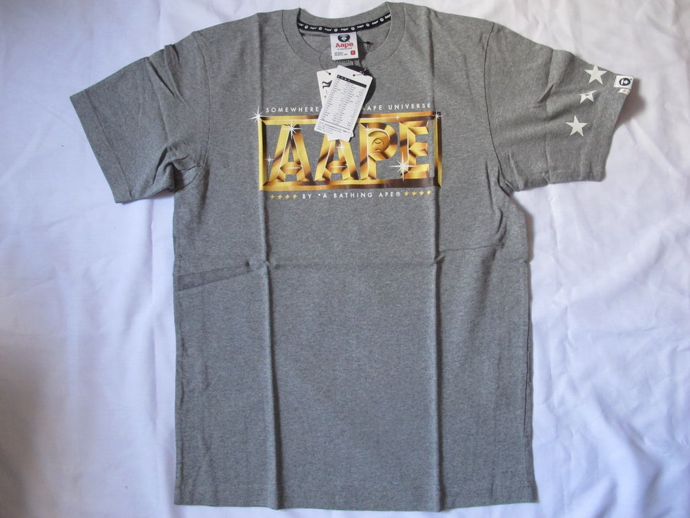 Image of (A Bathing Ape) Aape - Gold Classic Tee (Grey)
