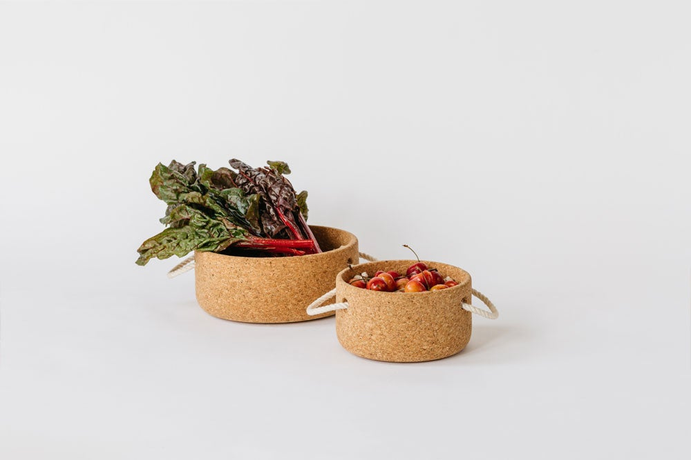 Image of Cork Bowl with Rope Handles