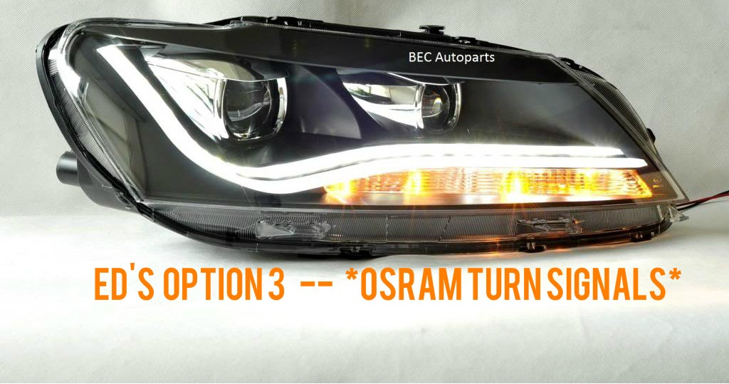 Image of Brightest Front Turn Signals fits: ED's Passat B7 Option 3 - LED Stripe