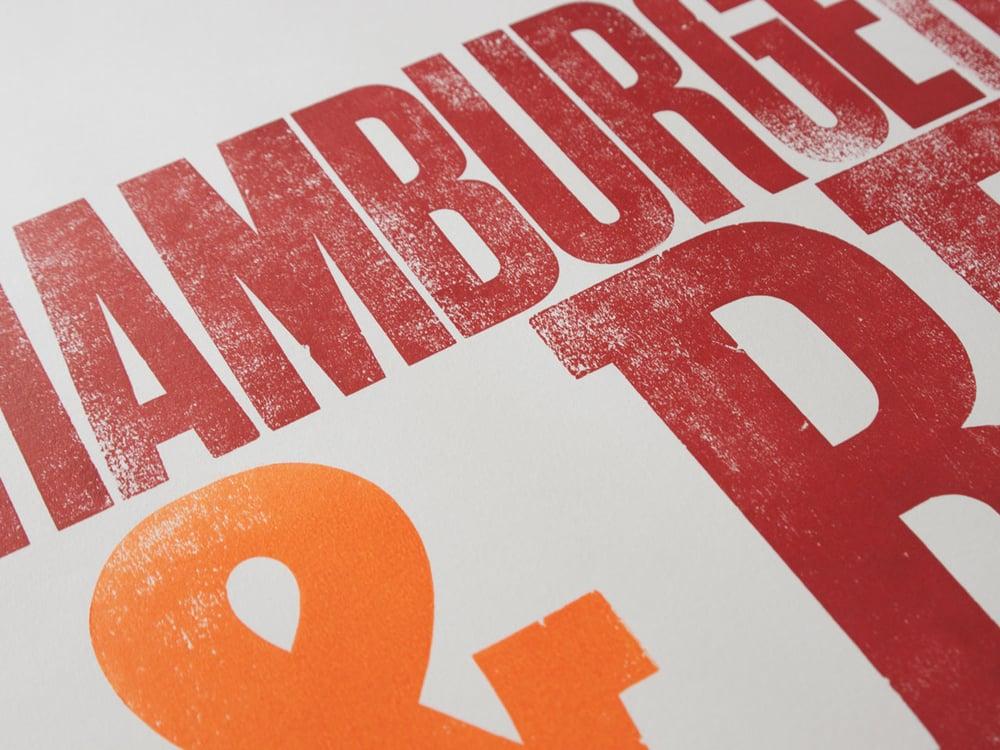 Image of HamburgerFonts & Beer