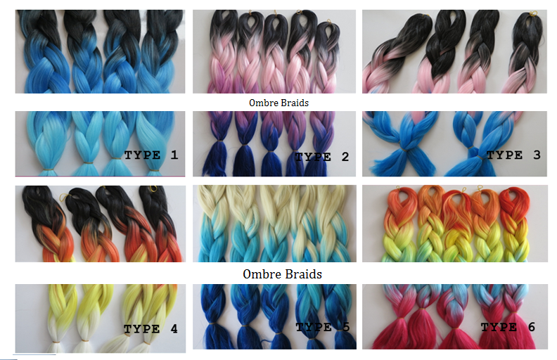 3 Tone Ombre Braiding Hair Ombrebraids