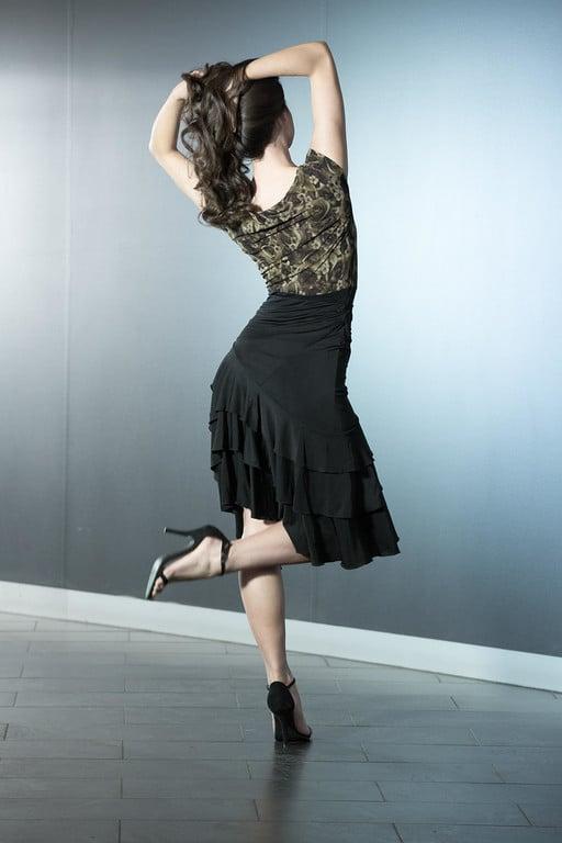 Image of Gwenth Top - Dark Rose (E1284) Dancewear latin ballroom