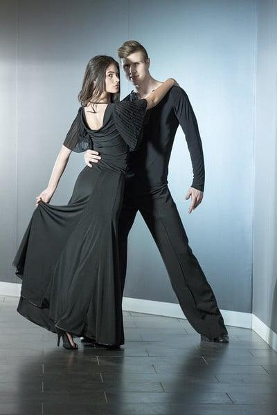 Image of Elegance Top - Black (E1278) Dancewear latin ballroom
