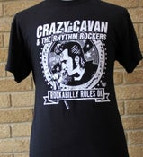 Image of NEW!!! - ROCKABILLY RULES OK! T-SHIRT (MENS) (CRAZY CAVAN STORE)