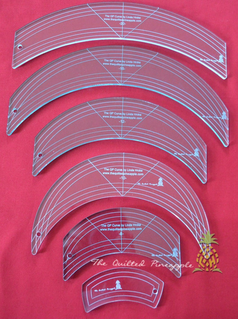 Image of HOLIDAY SALE! Original 6 QP Curve Templates by Linda Hrcka SET SPECIAL