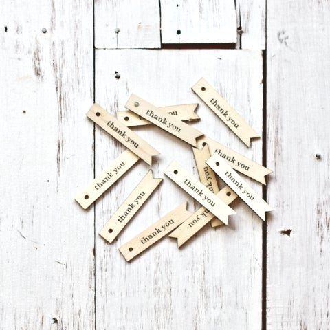 Wooden 'Thank You' Tags | Little Ink | Packaging Supplies | Baking Supplies  | Craft Supplies | Party Supplies