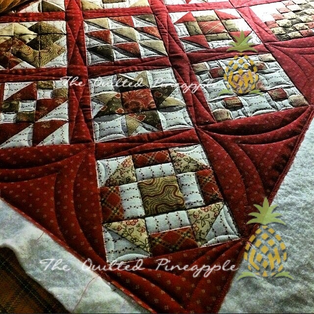 8 Qp Curve Template By Linda Hrcka The Quilted Pineapple