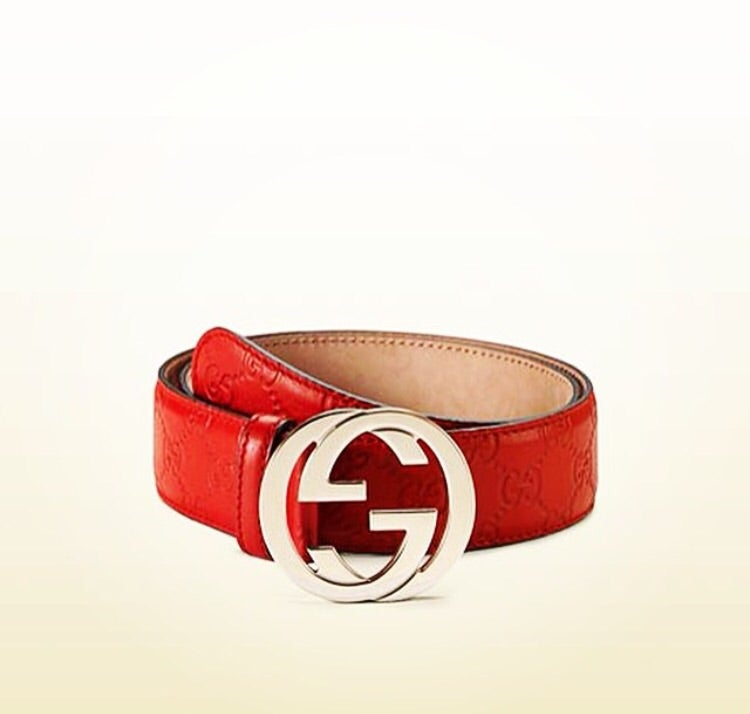 3050b6eba Red Gucci belt Gold buckle | Authentic Designer