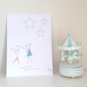 Image of Print /Plakat til barnerommet A4