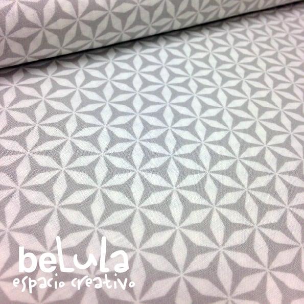 Image of Tela algodón patchwork: Estrellas gris
