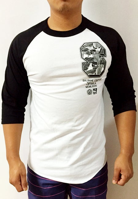 Image of 6IX SIDE [RAGLAN] White/Black