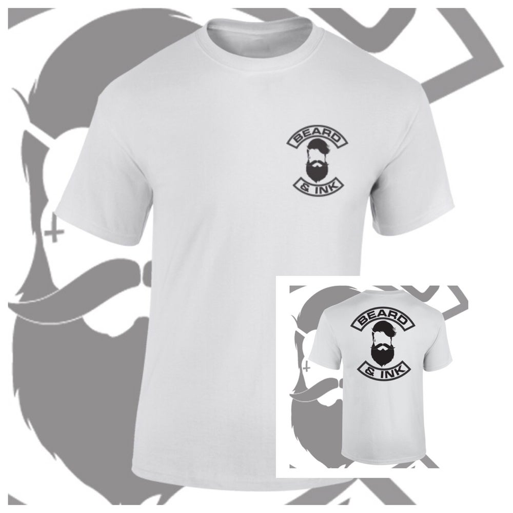 Image of Beard & Ink Rear Logo Tee.