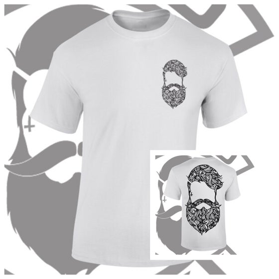 Image of Beard & Ink Rear Large Patterned Logo Tee