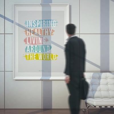 Image of INSPIRING HEALTHY LIVING AROUND THE WORLD - UV Fine Art Print