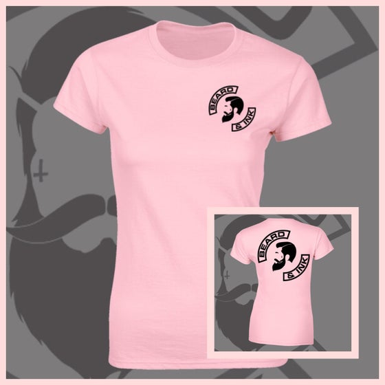 Image of Baby Pink Beard & Ink Rear Side Logo Tee.