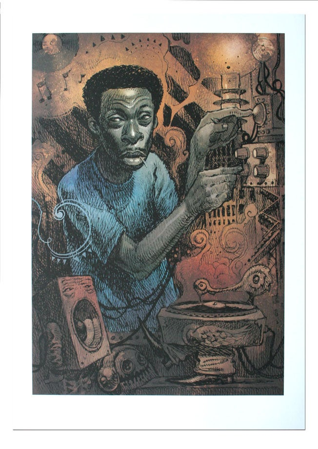 Image of Pete Rock - Lithograph Print