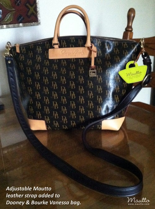 "Image of Dooney & Bourke Replacement Shoulder/Crossbody/Adjustable Straps - 1"" Wide - Choose Leather + Hooks"