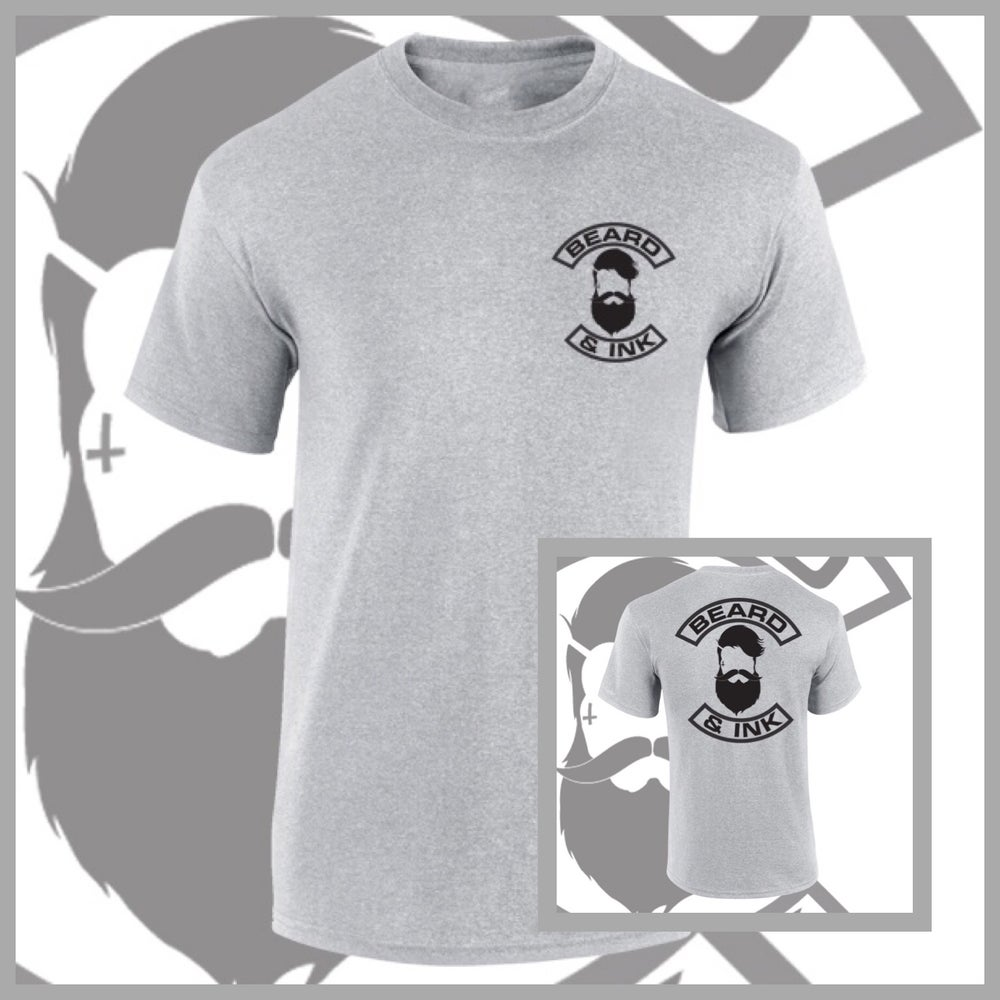 Image of Grey Beard & Ink Rear Logo Tee.