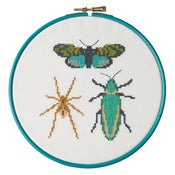 Image of Emerald Bug Trio cross-stitch kit