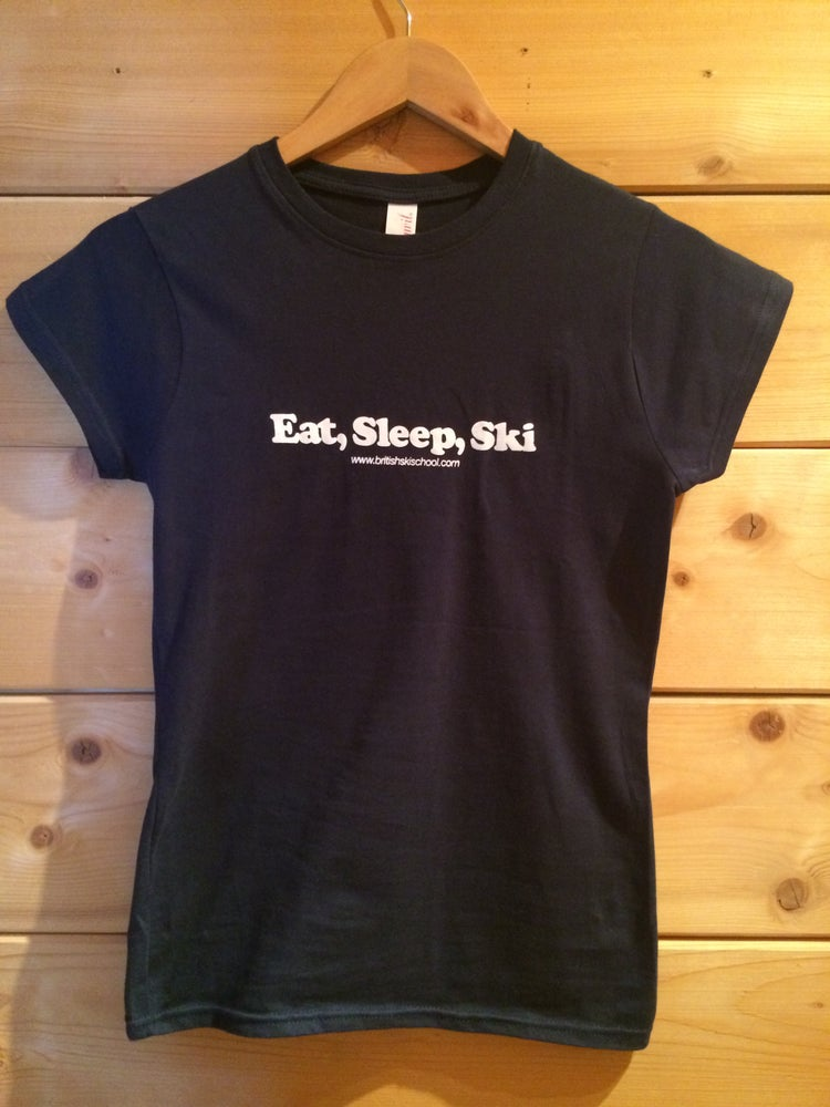 Image of Eat, Sleep, Ski T Shirt Womens