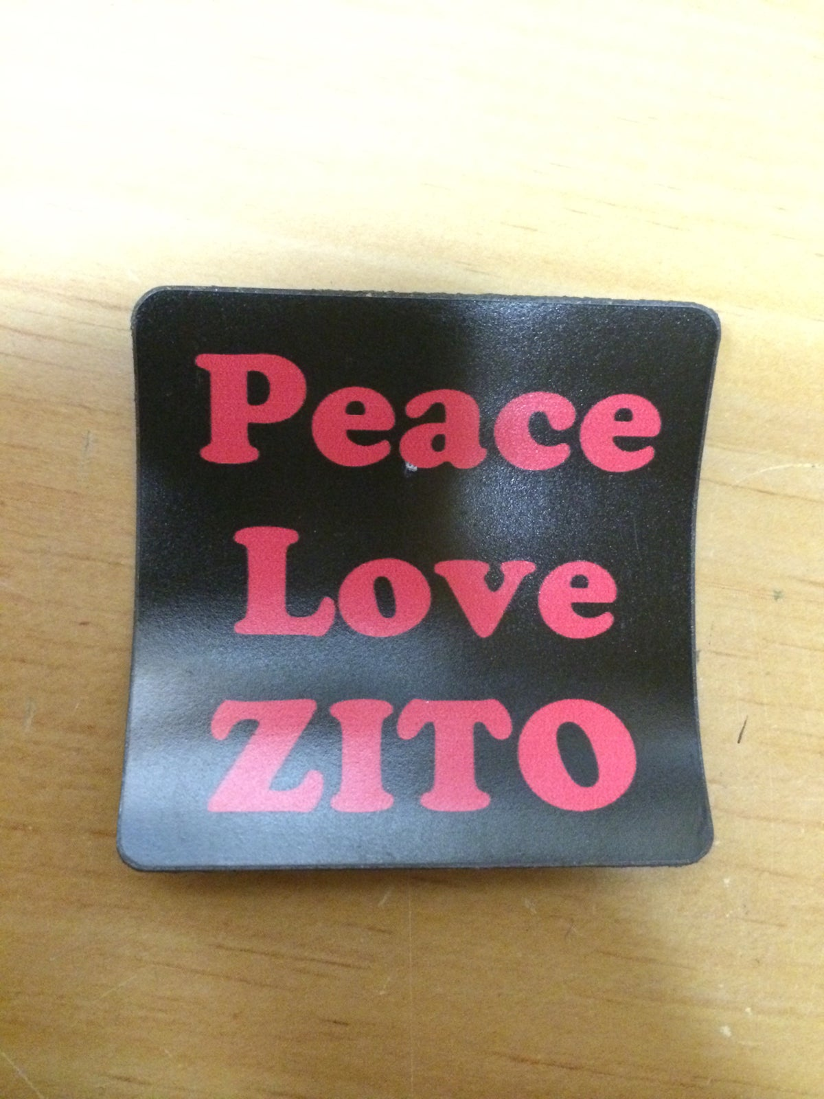 Image of 2 Peace Love Zito magnets