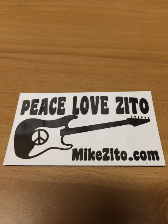 Image of Peace Love Zito magnet