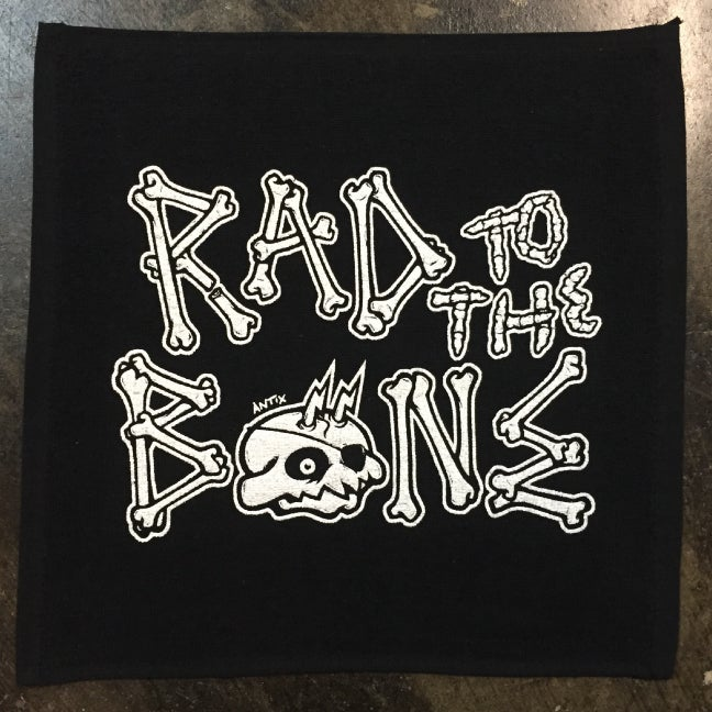 "Image of ""RAD BONE"" RALLY TOWEL BLACK"