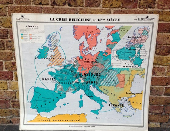 Image of 1970s Map of Europe in the C16th