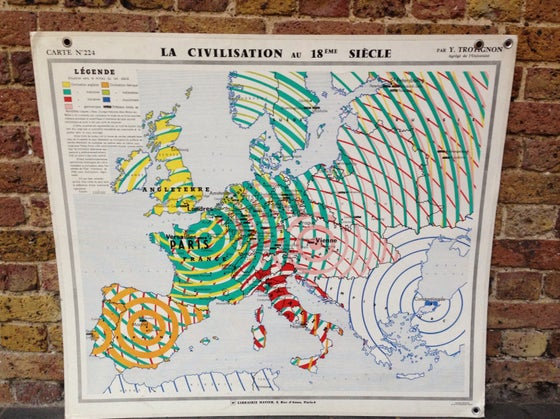 Image of 1970s Map of Europe in the C18th