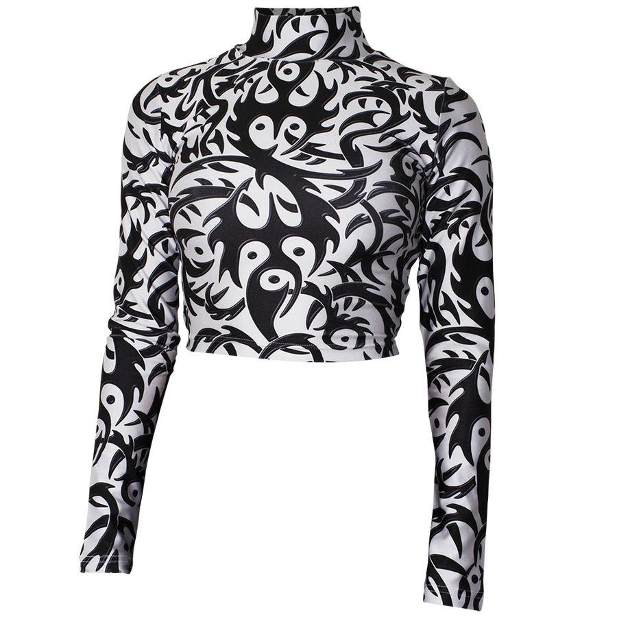 Image of TRIBAL WHITE TURTLENECK