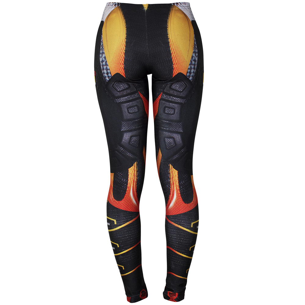 Image of TUNED RED LEGGINGS