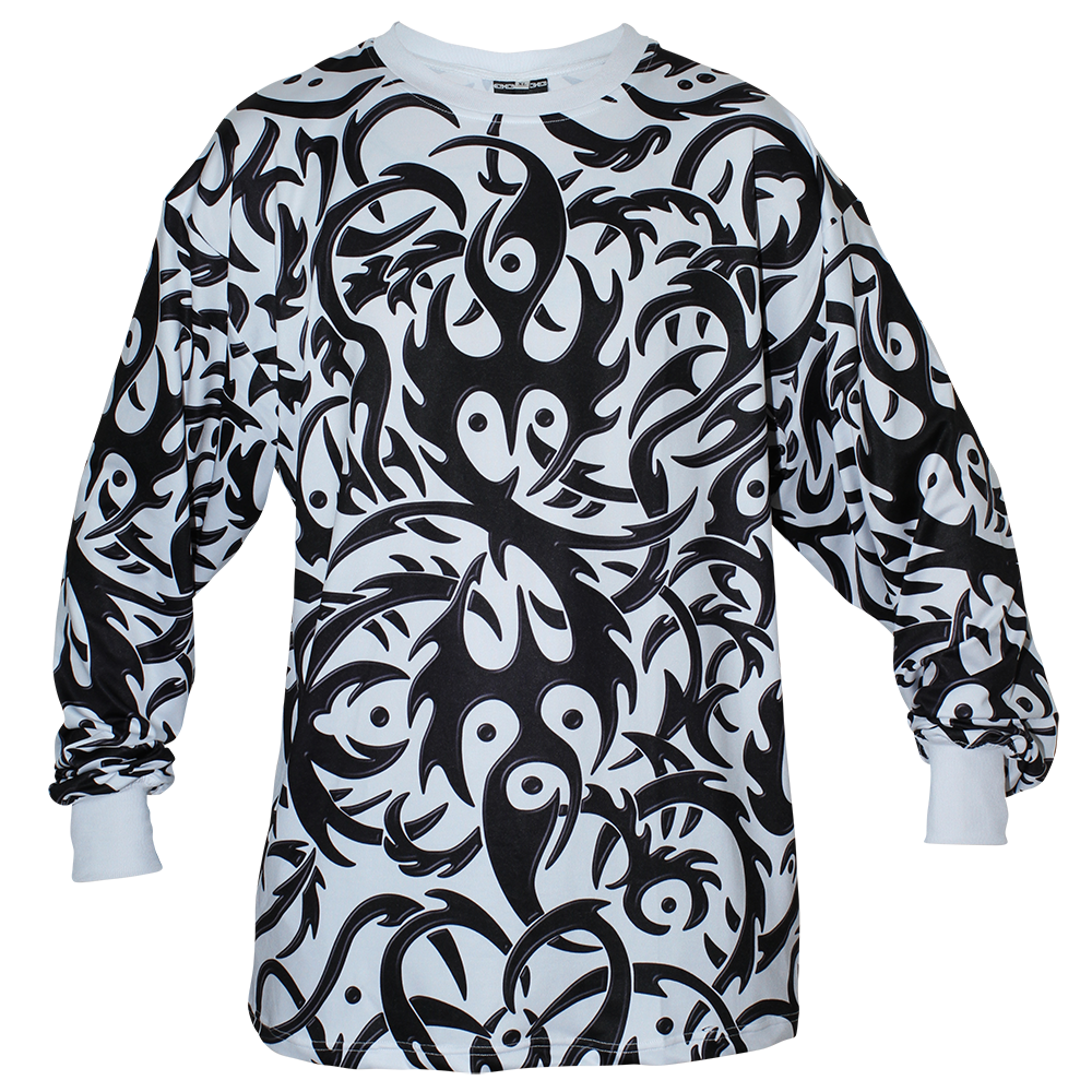 Image of TRIBAL WHITE LONG SLEEVE