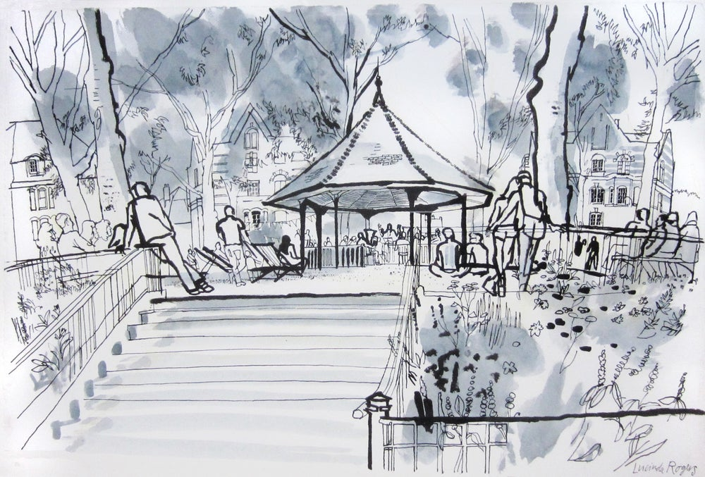 Image of The bandstand at Arnold Circus (framed)