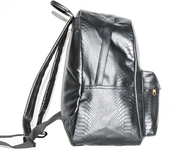 Image of Black Python backpack