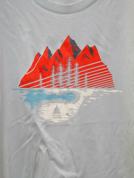 Image of Made in Colorado T-Shirt  Silver/Red Mtns