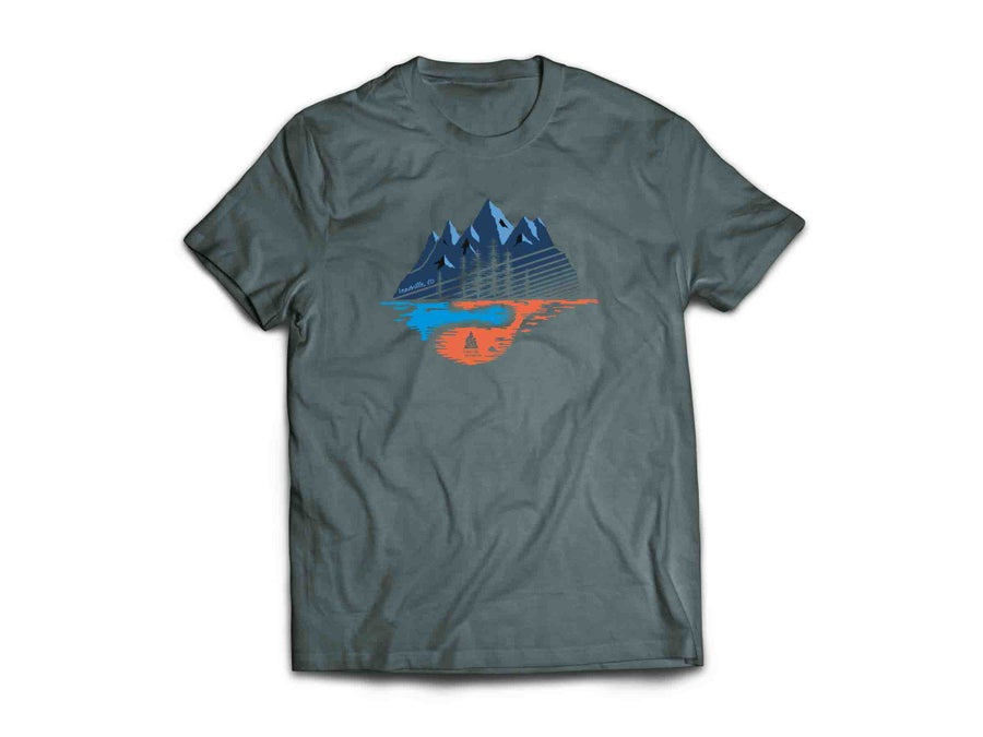 Image of Made in Colorado T-Shirt Silver/Blue/Orng Mtns