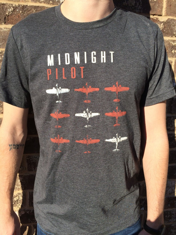 Image of Midnight Pilot Planes T-shirt