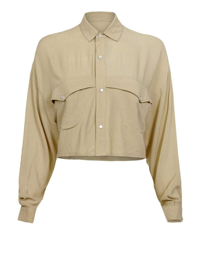 Image of ARGENT CROP JACKET - PISTACHIO