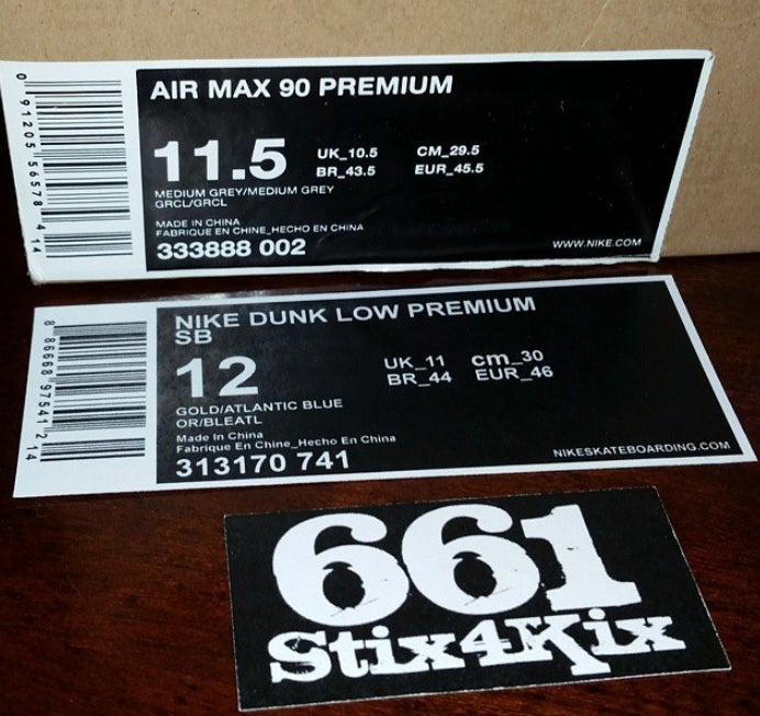 replacement shoebox labels 661stix4kix