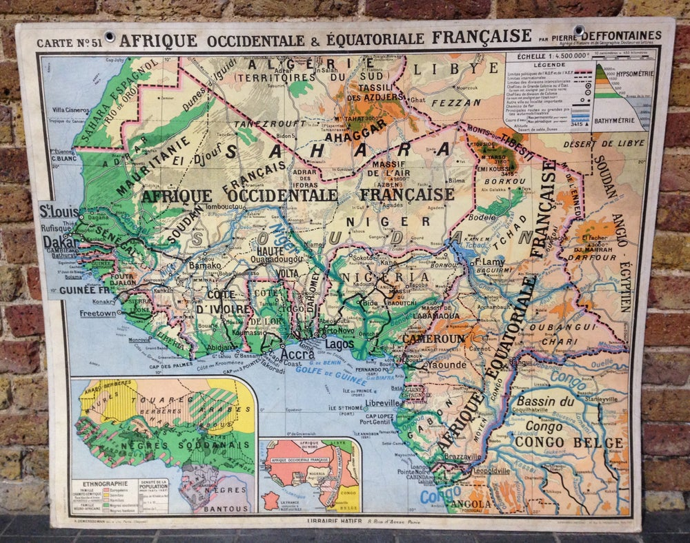 Image of 1950s Map of West Africa