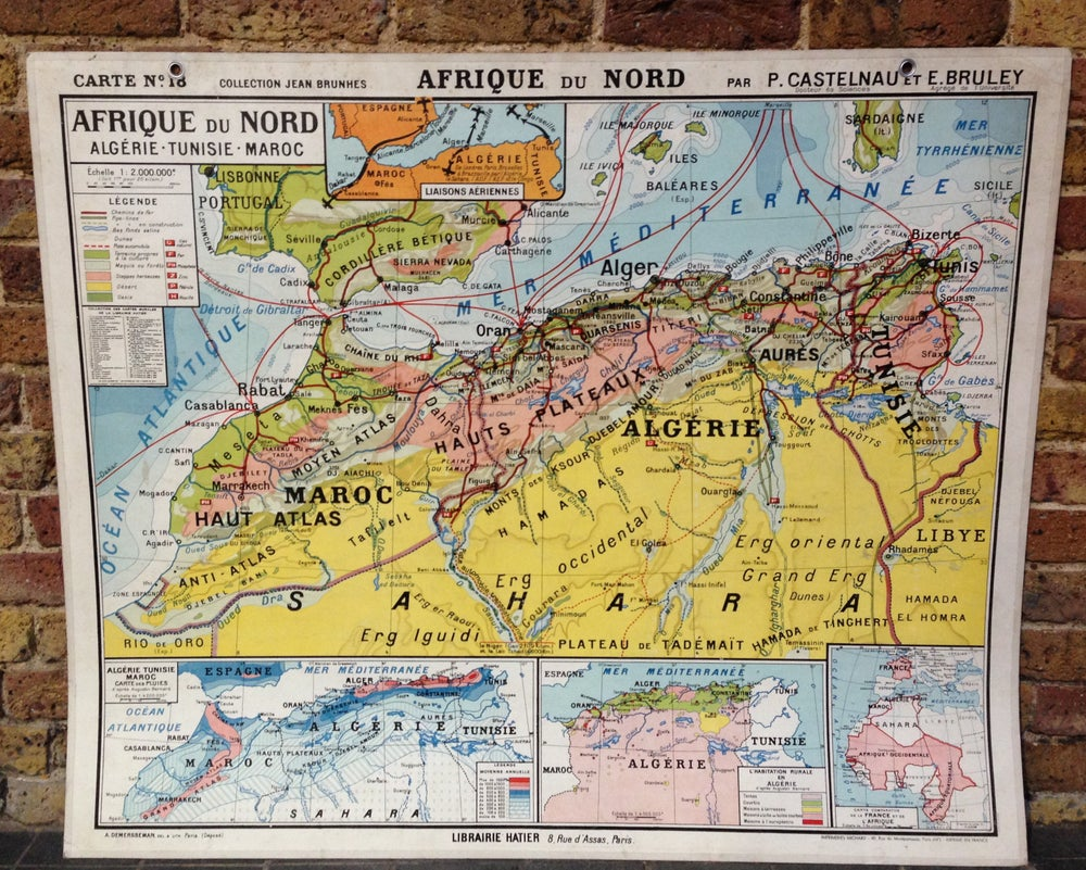 Image of 1950s Map of North Africa