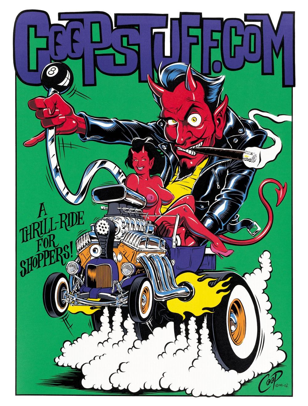 Image of HOT ROD DEVIL silkscreen print