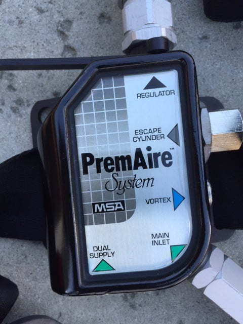 Image of PremAire Supplied Air Respirator System with 5 min Bottle